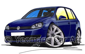Volkswagen Golf (Mk6) (5dr) - Caricature Car Art Coffee Mug