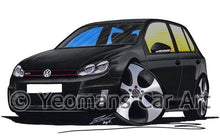 Load image into Gallery viewer, Volkswagen Golf (Mk6) GTi (5dr) - Caricature Car Art Coffee Mug