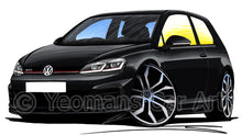 Load image into Gallery viewer, Volkswagen Golf (Mk7.5) GTi (3dr) - Caricature Car Art Print