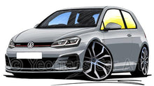Load image into Gallery viewer, Volkswagen Golf (Mk7.5) GTi (3dr) - Caricature Car Art Coffee Mug