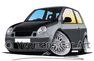 Volkswagen Lupo (Yeo-A) - Caricature Car Art Print