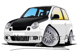 Volkswagen Lupo (Yeo-A) - Caricature Car Art Coffee Mug