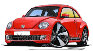 Volkswagen The Beetle - Caricature Car Art Print