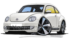 Load image into Gallery viewer, Volkswagen The Beetle - Caricature Car Art Print
