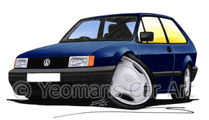 Volkswagen Polo (Mk2)(Facelift) - Caricature Car Art Print