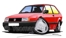 Load image into Gallery viewer, Volkswagen Polo (Mk2)(Facelift) - Caricature Car Art Print