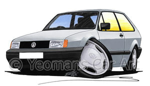 Volkswagen Polo (Mk2)(Facelift) - Caricature Car Art Coffee Mug