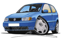 Load image into Gallery viewer, Volkswagen Polo (Mk3)(6N) - Caricature Car Art Coffee Mug