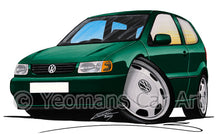 Load image into Gallery viewer, Volkswagen Polo (Mk3)(6N) - Caricature Car Art Print