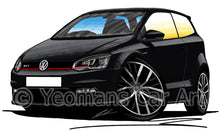 Load image into Gallery viewer, Volkswagen Polo (Mk5)(Facelift)(6C) GTi - Caricature Car Art Print