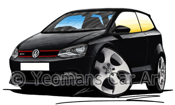 Volkswagen Polo (Mk5)(6R) GTi - Caricature Car Art Coffee Mug