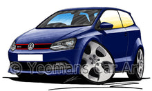 Load image into Gallery viewer, Volkswagen Polo (Mk5)(6R) GTi - Caricature Car Art Print