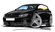 Load image into Gallery viewer, Volkswagen Scirocco (Mk3) R-Line - Caricature Car Art Print