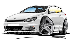 Volkswagen Scirocco (Mk3) R-Line - Caricature Car Art Coffee Mug