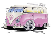 Load image into Gallery viewer, VW Split-Screen (11G) Camper Van - Caricature Car Art Coffee Mug