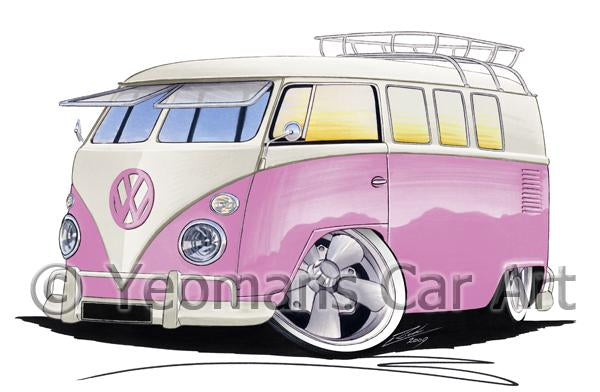 VW Split-Screen (11G) Camper Van - Caricature Car Art Coffee Mug