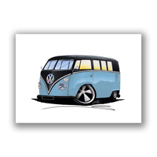 Load image into Gallery viewer, VW Split-Screen (11H) Camper Van - Caricature Car Art Print