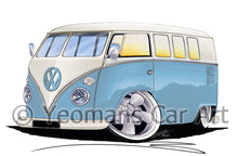 Load image into Gallery viewer, VW Split-Screen (11M) Camper Van - Caricature Car Art Print