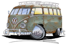 Load image into Gallery viewer, VW Split-Screen (23D) Camper Van - Caricature Car Art Coffee Mug