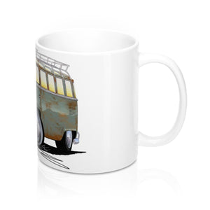 VW Split-Screen (23D) Camper Van - Caricature Car Art Coffee Mug