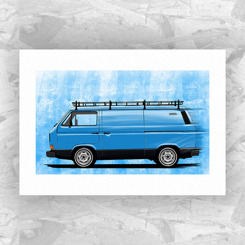 VW T25 Panel Van (Andi Edition) - Roadside Icons Art Print