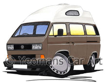 Load image into Gallery viewer, VW T3 / T25 High Top Camper Van (Square Headlights) - Caricature Car Art Coffee Mug