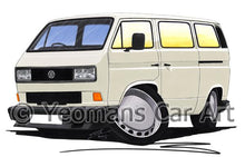 Load image into Gallery viewer, VW T3 / T25 Camper Van (Square Headlights) - Caricature Car Art Coffee Mug