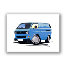 Load image into Gallery viewer, VW T3 / T25 Transporter Van - Caricature Car Art Print