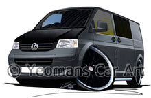 Load image into Gallery viewer, VW T5 Camper Van (Yeo-A) - Caricature Car Art Print