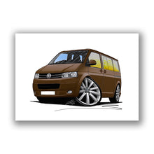 Load image into Gallery viewer, VW T5 (Facelift) California Camper Van - Caricature Car Art Print