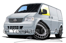 Load image into Gallery viewer, VW T5 Transporter Van - Caricature Car Art Print