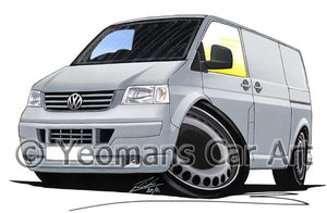 VW T5 Transporter Van - Caricature Car Art Coffee Mug