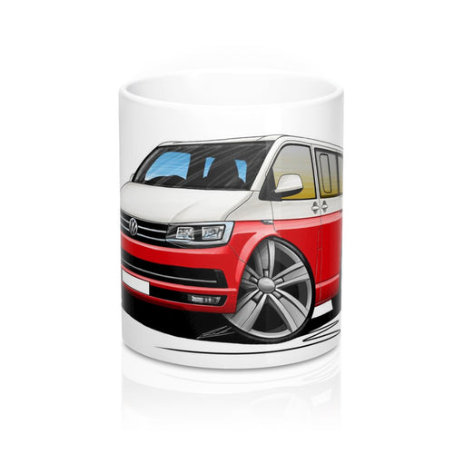 VW T6 Camper Van - Caricature Car Art Coffee Mug