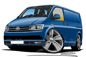 VW T6 Transporter Van - Caricature Car Art Coffee Mug