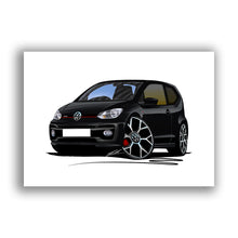 Load image into Gallery viewer, Volkswagen Up! GTi - Caricature Car Art Print