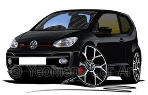 Volkswagen Up! GTi - Caricature Car Art Coffee Mug