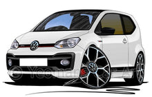 Load image into Gallery viewer, Volkswagen Up! GTi - Caricature Car Art Coffee Mug