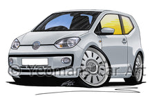 Load image into Gallery viewer, Volkswagen Up! - Caricature Car Art Print