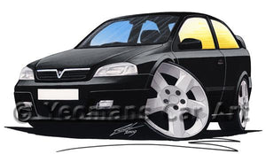 Vauxhall Astra (Mk4) SRi - Caricature Car Art Coffee Mug