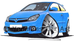 Vauxhall Astra (Mk5) VXR - Caricature Car Art Coffee Mug