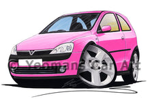 Load image into Gallery viewer, Vauxhall Corsa C SRi - Caricature Car Art Print