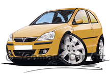 Load image into Gallery viewer, Vauxhall Corsa C (Facelift) SXi - Caricature Car Art Print
