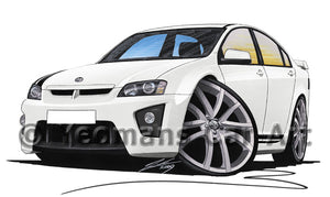 Vauxhall VXR8 Bathurst - Caricature Car Art Print