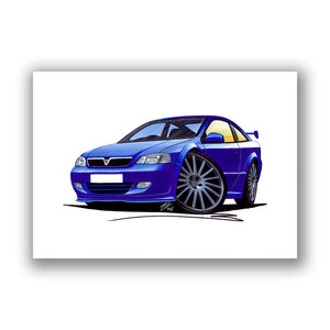 Vauxhall Astra (Mk4) Coupe '888' Edition - Caricature Car Art Print