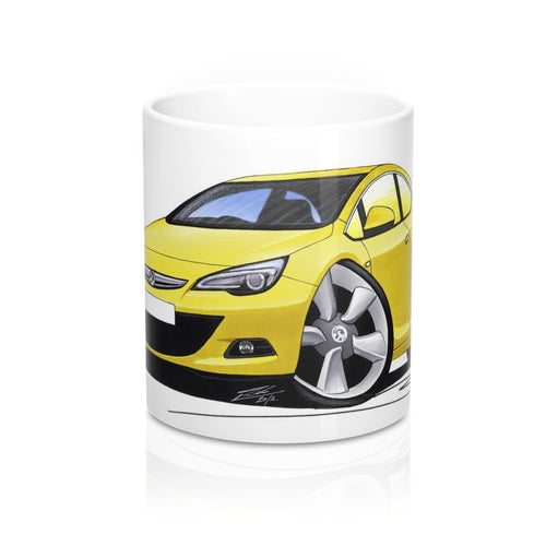 Vauxhall Astra (Mk6) GTC - Caricature Car Art Coffee Mug