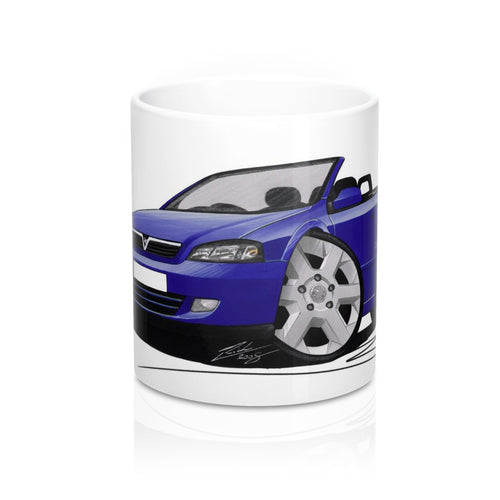 Vauxhall Astra (Mk4) Convertible - Caricature Car Art Coffee Mug