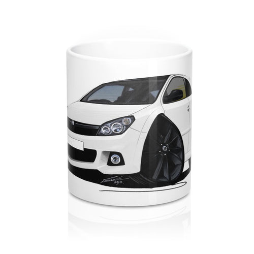 Vauxhall Astra (Mk5) VXR Arctic Edition - Caricature Car Art Coffee Mug
