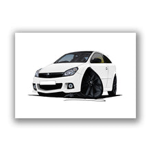 Load image into Gallery viewer, Vauxhall Astra (Mk5) VXR Arctic Edition - Caricature Car Art Print