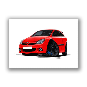Vauxhall Astra (Mk5) VXRacing Edition - Caricature Car Art Print