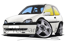 Load image into Gallery viewer, Vauxhall Corsa B - Caricature Car Art Print